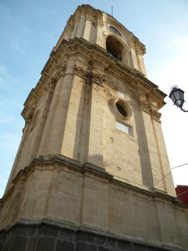 torre campanaria della chiesa di militello in val di catania (1953 clic)