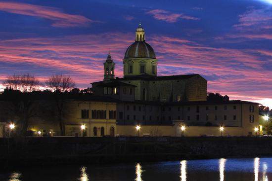 Tramonto sulla Chiesa del Cestello - Firenze (1348 clic)