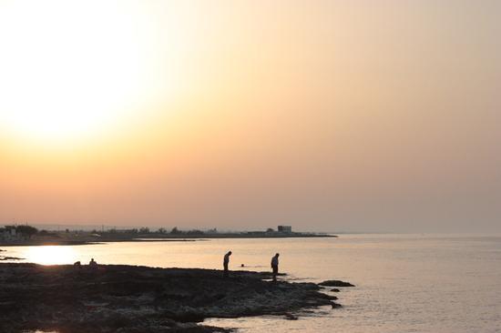 tramonto sulla spiaggia - Canne della battaglia (1567 clic)