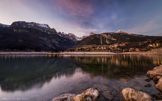 Sunset Lake Molveno - Lago di molveno (745 clic)