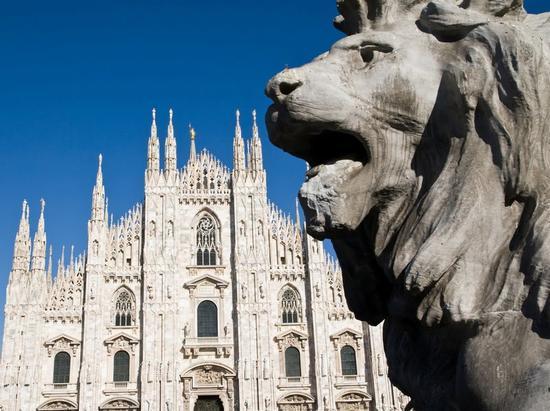 Duomo e Leone - Milano (1935 clic)