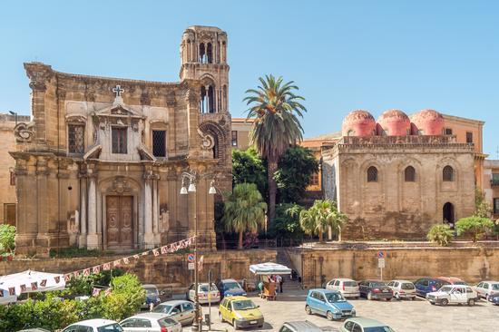 Chiesa della Martorana e Chiesa di San Cataldo - Palermo (1343 clic)