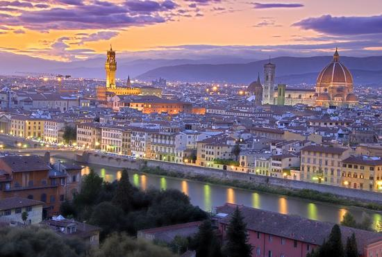 Sunset in Florence - Firenze (1785 clic)