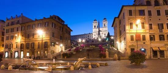 Trinità dei Monti, Piazza di Spagna - Roma (1316 clic)