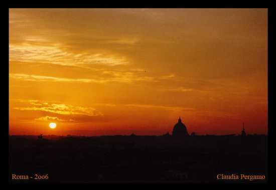 Tramonto su Roma (3518 clic)