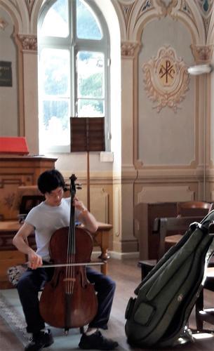 Prove al violoncello - Piedicavallo (659 clic)