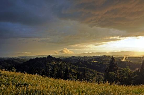 Monte Oliveto Maggiore ... Sole e Pioggia - Asciano (1231 clic)