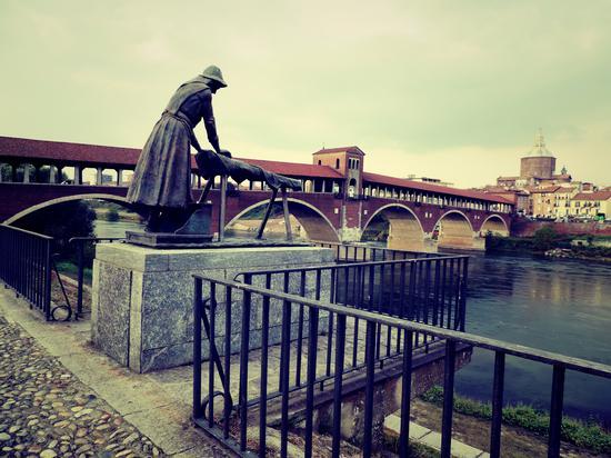 La lavandaia e ponte - Pavia (608 clic)
