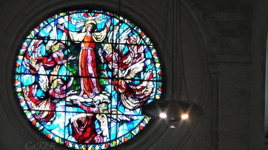 Interno della Cattedrale - rosone - Cosenza (1181 clic)