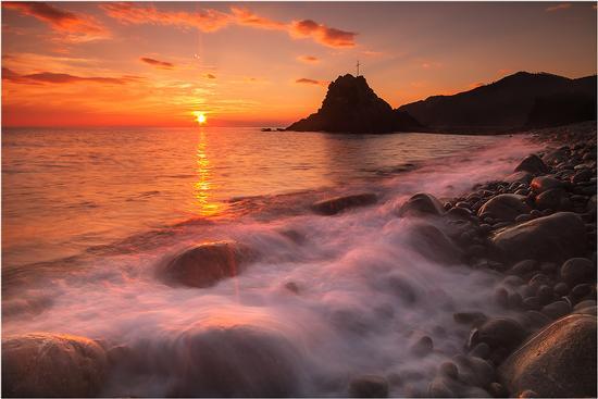 tramonto a Riva Trigoso (1383 clic)