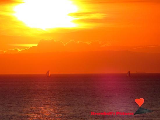 Una bellissima alba dorata. - Stromboli (456 clic)