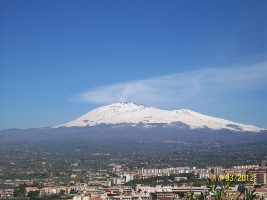 Vista  dell Etna da Paternò  ( ct )) (1708 clic)
