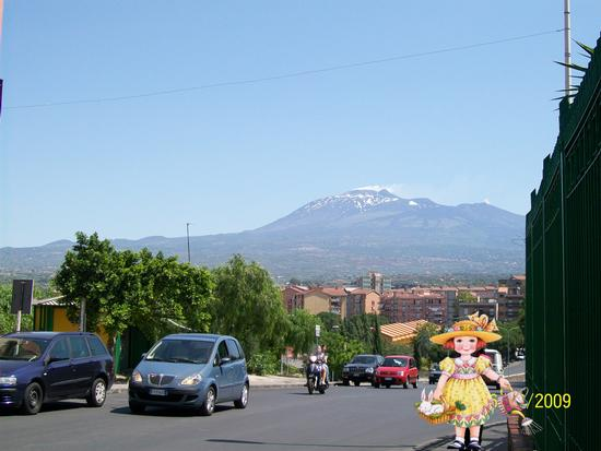 Vista  dell Etna da Paternò  ( ct )) (1484 clic)