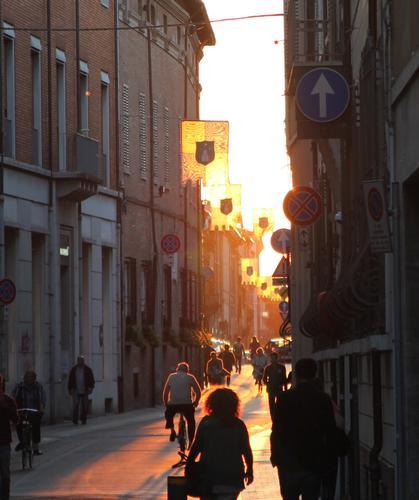 Tramonto in Corso Mazzini a Faenza (445 clic)