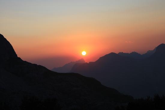 Tramonto sul Sagro - Alpi apuane (1366 clic)