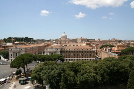 San Pietro vista da Castel Sant'Angelo - Roma (2652 clic)