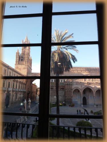 Una finestra sulla città.!!!!La Cattedrale di Palermo. (509 clic)
