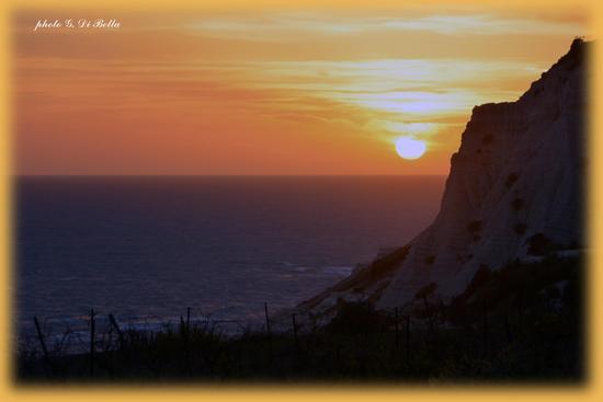 tramonto a capo Rossello.......!!!! - Realmonte (444 clic)