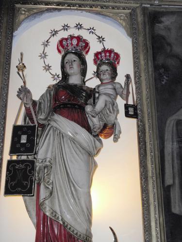 Madonna del Monte Carmelo nella Chiesa a Lei Dedicata   - Milazzo (2077 clic)