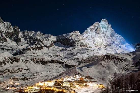 Cervino illuminato - Cervinia (1220 clic)