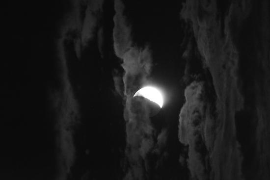 Luna e lunga esposizione - Cremona (224 clic)