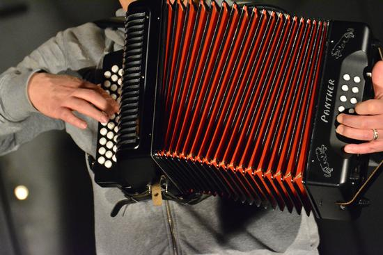 Cremona , Notte dei Musei, Musicista e fisarmonica (615 clic)