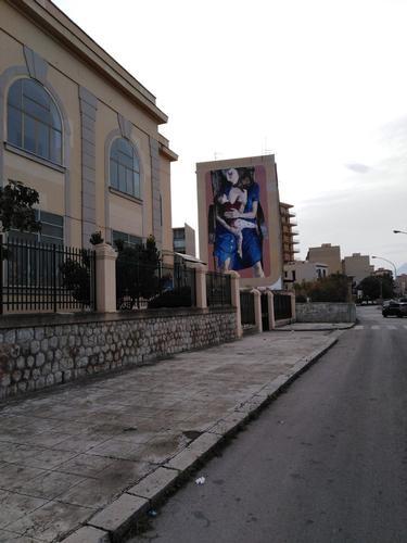 Sangu e latte. Murale nel Quartiere Sperone di Palermo  (10 clic)
