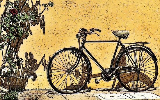 la bici del nonno - Montale (1975 clic)