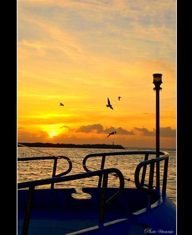 Silhouette di un  tramonto - Sciacca (3613 clic)