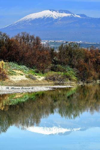 Vista dell'Etna dal fiume Simeto - Paternò (977 clic)