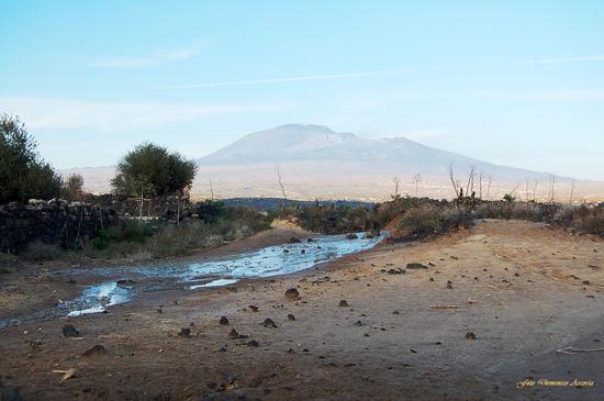 Le salinelle di Cappuccini vecchi con Vulcano Etna sullo sfondo. - Paternò (1845 clic)