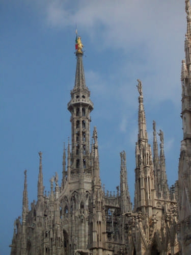 Milano. Particolare del Duomo. (2438 clic)