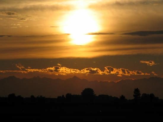 tramonto prima del temporale - Vigevano (2333 clic)