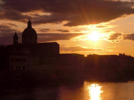 Tramonto sull'arno - Firenze (3271 clic)