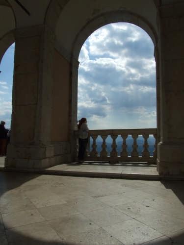 Abbazia di Monte Cassino l'affaccio sulla valle (3444 clic)