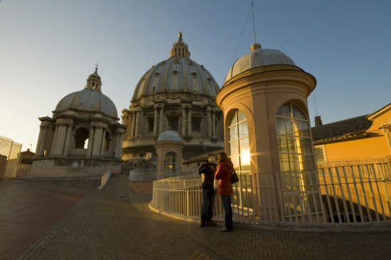 tramonto a san pietro - Roma (3465 clic)