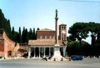 Esterno Basilica di San Lorenzo - Roma (1997 clic)
