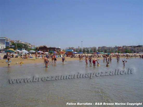 Pozzallo spiaggia  raganzino con bagnanti (7429 clic)