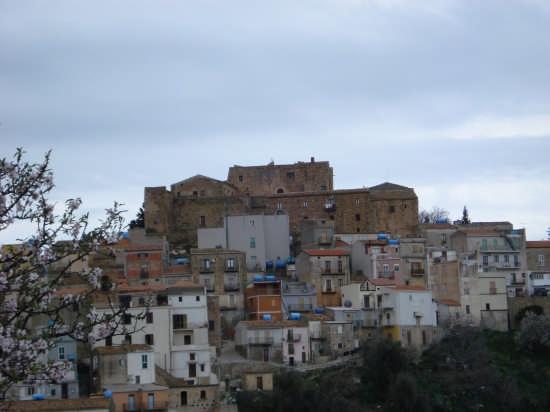 Un mandorlo guarda il castello - Caronia (3404 clic)