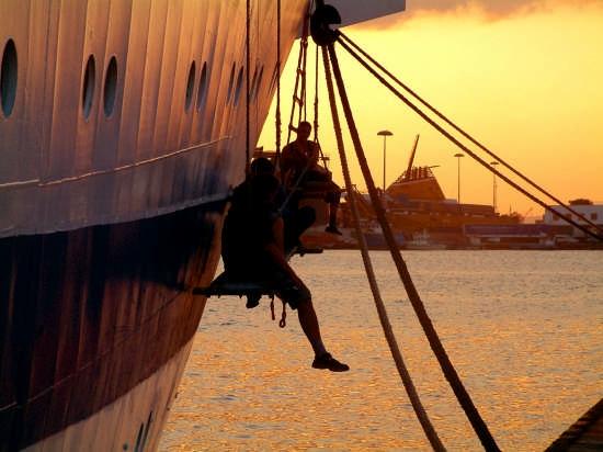 sospesi al tramonto - Cagliari (3101 clic)