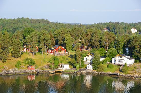 Casette in riva al Fiordo di Stoccolma (1958 clic)