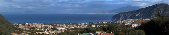 Il Panorama dal Bed and Breakfast Casa Mazzola in Sorrento (2293 clic)