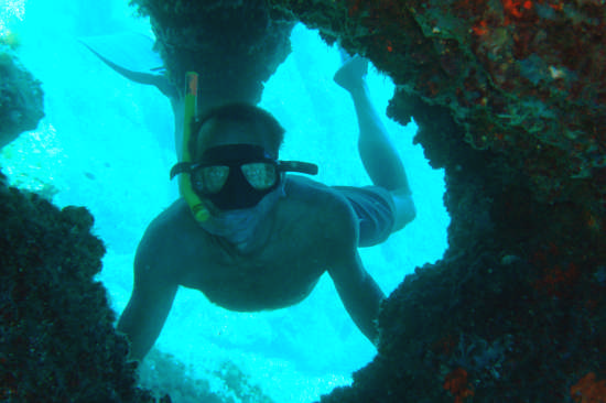 Isola di Mortorio. visitando una grotta in apnea - Olbia (6204 clic)
