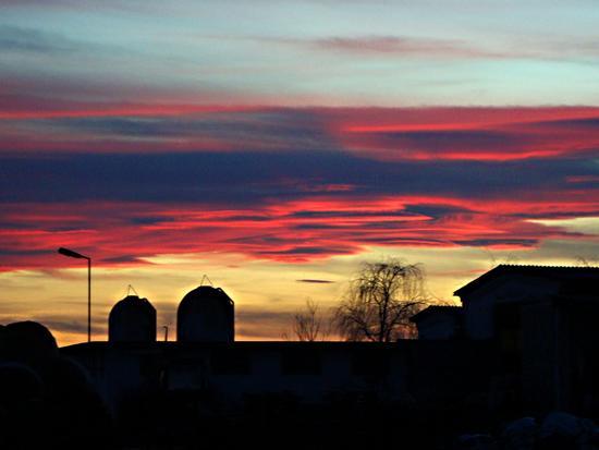 campagna novarese al tramonto - Galliate (2975 clic)