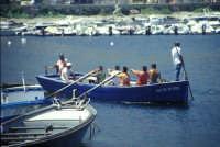 Tonnara di Bonagia - barche dei tonnaroti pronte alla mattanza  - Bonagia (4014 clic)