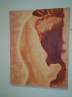 pensieri e linee , quadro dipinto ad olio, a mano, Daniela,  ottobre 2005  - Ragusa (2521 clic)