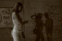 ombre e murales allo scalo di trappeto...  - Trappeto (6340 clic)