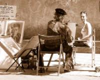 il pittore e la modella il pittore e la modella  - Taormina (7624 clic)