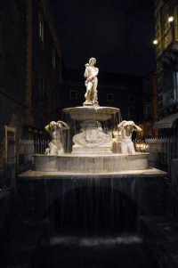 La fontana del fiume Amenano, in piazza Duomo  - Catania (2381 clic)