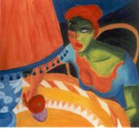 giuseppe sirni - la perla - olio su tela cm 100X100 - Milano, collezione privata  - Mistretta (2122 clic)
